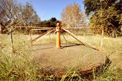Abandoned Children's Playground Stock Photo