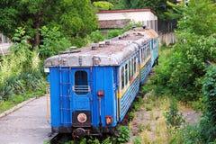 Abandoned children's railway in Uzhgorod, Ukraine Stock Photos