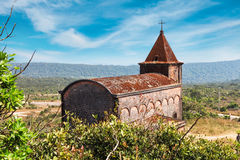 Abandoned christian church on top of Bokor mountain in Preah Monivong national park, Kampot, Cambodia. Abandoned christian church on top of Bokor mountain in Stock Photography