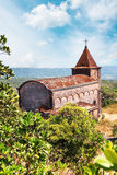 Abandoned christian church on top of Bokor mountain in Preah Monivong national park, Kampot, Cambodia Royalty Free Stock Photography