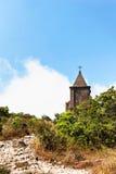 Abandoned christian church on top of Bokor mountain in Preah Monivong national park, Kampot, Cambodia Stock Photos