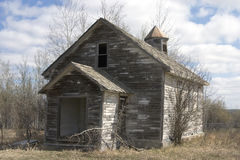 Abandoned church. An old, wooden abandoned church in Canada Royalty Free Stock Photo