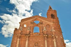 Abandoned church in Belchite Royalty Free Stock Photo
