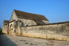 Abandoned Church in Bourgogne Stock Image