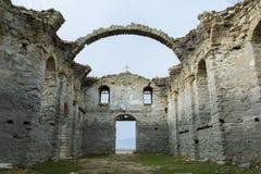 Abandoned church in dam Jrebchevo, Bulgaria stock photos
