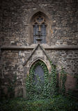 Abandoned church with ivy in prague Royalty Free Stock Images