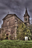 Abandoned church outside Stock Images