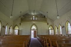 Abandoned church in prison yard Royalty Free Stock Image