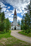 Abandoned Church. This is abandoned Protestant church in Lumivaara was built in 1935 and after after Winter War was ceded to Russian stock image