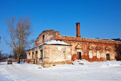 Abandoned church in Rizopolozhensky monastery Royalty Free Stock Image
