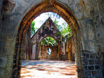 Abandoned church. Ruin of an abandoned church on Ross Island, Andaman and Nicobar Islands, India, Asia Stock Photo