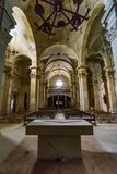 Abandoned church somewhere in Spain. Totally intact, still retains even its religious images Stock Photos