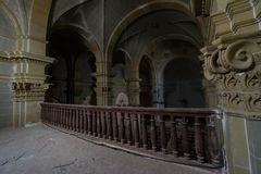 Abandoned church somewhere in Spain. Totally intact, still retains even its religious images royalty free stock images
