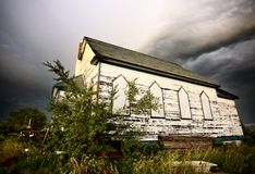 Abandoned Church After Storm Stock Photos