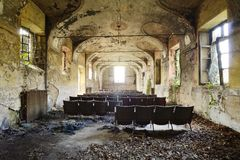 Abandoned cinema - Piedmont, Italy Royalty Free Stock Photos