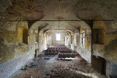 Abandoned cinema - Piedmont, Italy Stock Images