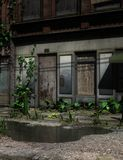 Abandoned city, 3D CG Royalty Free Stock Images