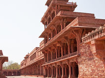 Abandoned city of Fatehpur Sikri, Rajasthan. Part of the sixteenth century city of Fatehpur Sikri in Rajasthan, India which was built to be the political capital Royalty Free Stock Photos