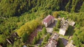 An abandoned city, a Ghost town, Akarmara. Aerial viewLocated near Tkvarcheli. Abkhazia. Georgia. stock video footage