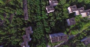 The Abandoned City of Pripyat near Chernobyl (Aerial, 4K) stock footage