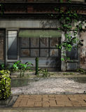Abandoned city scene, 3D CG Royalty Free Stock Photos