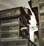 Abandoned City. Snapshot of an abandoned Asian city. Could be used as anime background Stock Images
