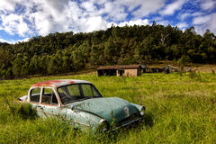 Abandoned classic car Stock Photography