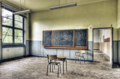 Abandoned classroom Royalty Free Stock Photography