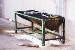 Abandoned cleaning station Royalty Free Stock Photography