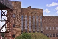 Abandoned coal electric powerplant or power station in East Germany. Royalty Free Stock Photo