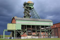 Abandoned coal mine in Ahlen, Germany. Abandoned coal mine with shaft in North Rhine-Westphalia, Germany stock images