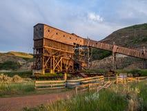 Abandoned coal mine Stock Photo