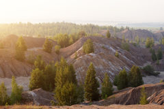 Abandoned coal mine in Tula region, Russia Royalty Free Stock Photos