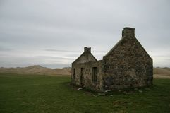 Lost village in Aberdeenshire, Scotland. Abandoned coastal cottage at Seaton of Rattray, also known as Botany, Aberdeenshire Stock Photo