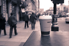 Abandoned coffe in the city Stock Image