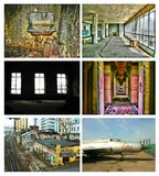 Abandoned collage Stock Photography