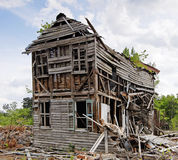 Abandoned Collapsing House Stock Images