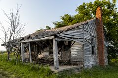 Abandoned and Collapsing House - Kentucky Stock Images