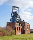 Abandoned Colliery Buildings. Image of an abandoned pit head winding gear in the old Yorkshire Coal Field, Barnsley, UK Stock Image