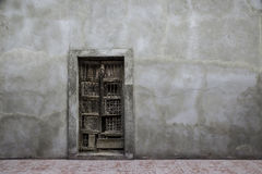 Abandoned colonial doorway Royalty Free Stock Images