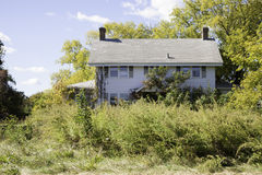 Abandoned Colonial Style House Stock Image