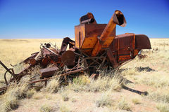 Abandoned combine harvester Royalty Free Stock Photography