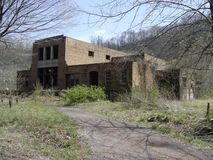 Abandoned company store in ruins. Abandoned coal company store of the Peerless Coal & Coke Co. in Vivian, McDowell County, West Virginia Stock Image
