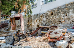 Abandoned construction and junk Stock Images