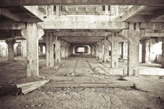 Abandoned construction site 2 Royalty Free Stock Image