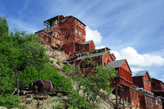 Abandoned copper mine Stock Photography