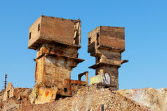 Abandoned copper mine Royalty Free Stock Image