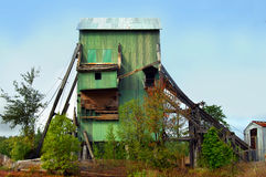 Abandoned Copper Mining Shaft House Stock Photos
