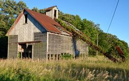 Abandoned Corn Crib and Loader Stock Images