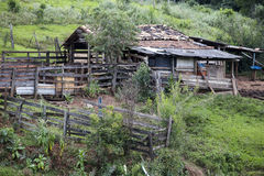 Abandoned corral Stock Image